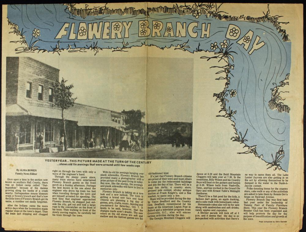 History of Flowery Branch | City of Flowery Branch, Georgia